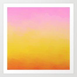 Painterly Gradient - Rich Sunset Variant Art Print