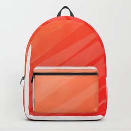 warm colors orange and red abstract Backpack