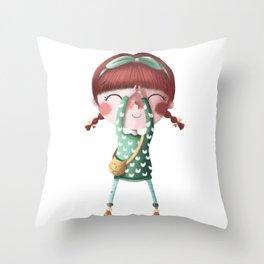 A de Tina Throw Pillow
