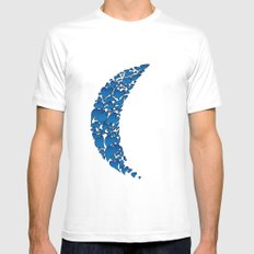 A Moon full of hearts 2 White Mens Fitted Tee MEDIUM