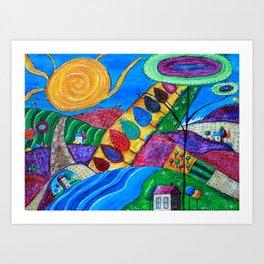 Color Haven Art Print