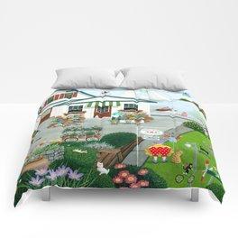 Purr-fect Blooms Comforters