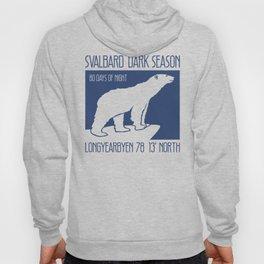 Svalbard Dark Season Travel Poster - Norway Hoody