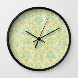 Romantic Grunge Damask Wall Clock