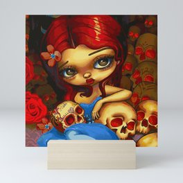 The Skull Collector (Painting) Mini Art Print