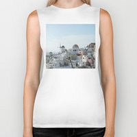 greece Biker Tanks featuring Greece Villas by Limitless Design
