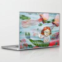 siren Laptop & iPad Skins featuring SIREN by Lauraballa StudioArte