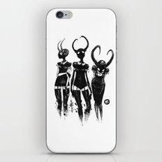 3 horned girls iPhone & iPod Skin