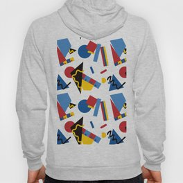 Postmodern Primary Color Party Decorations Hoody