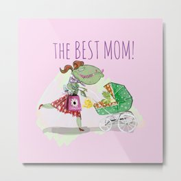 The Best Mom in Pink Metal Print
