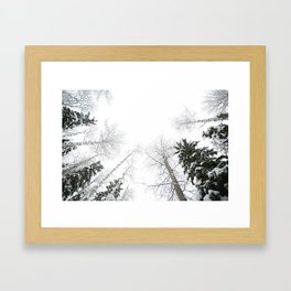 """""""Never cut a tree down in the wintertime"""" Framed Art Print"""