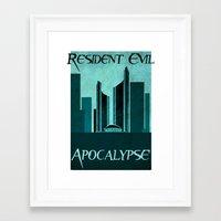 resident evil Framed Art Prints featuring Resident Evil Apocalypse by JackEmmett