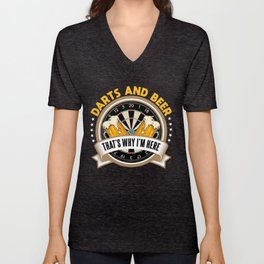 Darts and beer Gift Birthday Christmas Unisex V-Neck