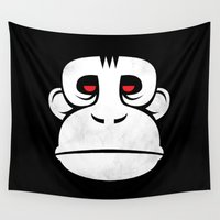 ape Wall Tapestries featuring The Great Ape by Strange Things Art