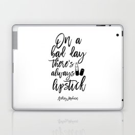 lipstick Quote,Lipstick Print,Makeup Print,Bathroom Decor,Fashion Print,Quote Prints,Wall Art Laptop & iPad Skin