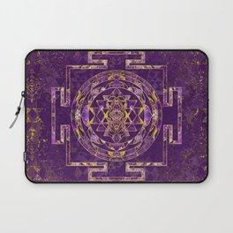 Sri Yantra  / Sri Chakra Amethyst and gold Laptop Sleeve