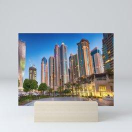 Lights, steel and glass Mini Art Print