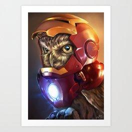 Iron Owl Art Print