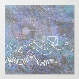 musical space geometry Canvas Print