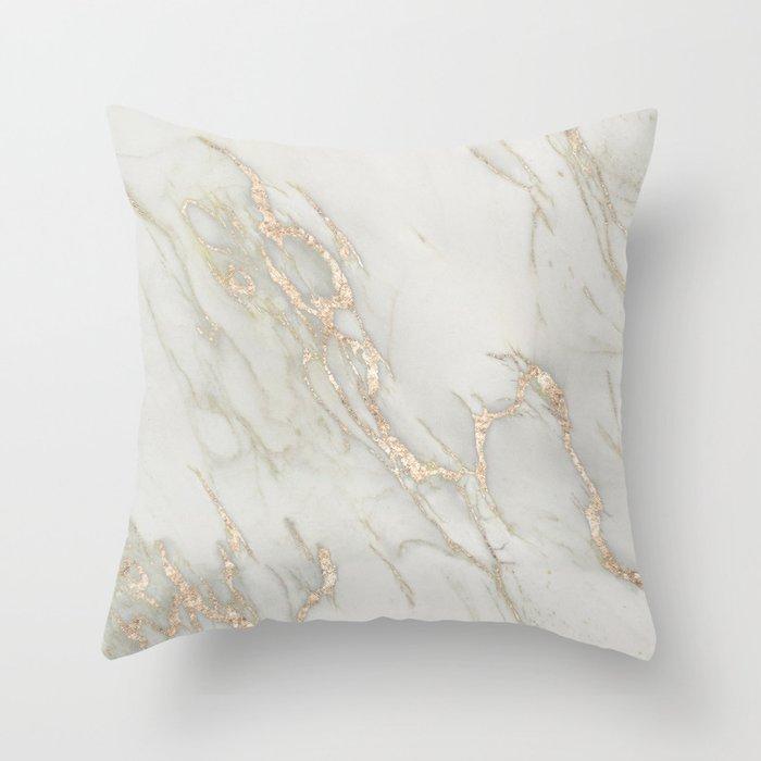 Marble Love Bronze Metallic Throw Pillow By Naturemagick Society6