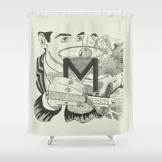 M is for Martini Shower Curtain