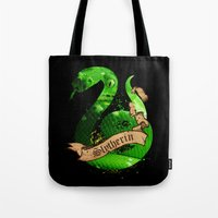 slytherin Tote Bags featuring Slytherin by Markusian