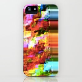 Rainbow Glitch iPhone Case