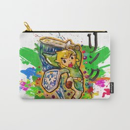 Original - Link - Watercolor Poster Painting - Legend of Zelda Carry-All Pouch
