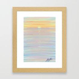 deep colour sunset Framed Art Print