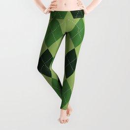 Argyle greens Leggings
