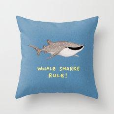 Whale Sharks Rule! Throw Pillow