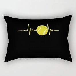 Tennis Heartbeat Gift for Players & Coaches Tennis Heartbeat Rectangular Pillow