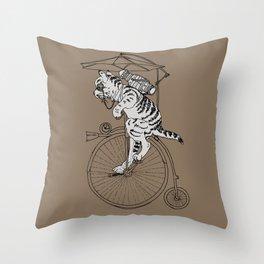 Steam Punk Tabby Cat Throw Pillow