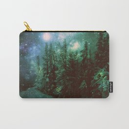 Galaxy Winter Forest Green Carry-All Pouch