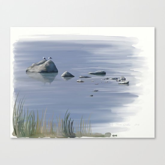 Seagull Siesta Canvas Print