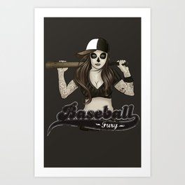 Baseball Fury Art Print