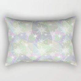 Polygon with snowflakes. Rectangular Pillow