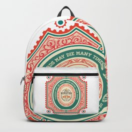 Cowards may die many times before their death Backpack