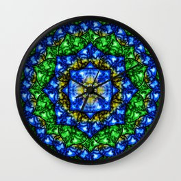 Electric Lotus Mandala Wall Clock