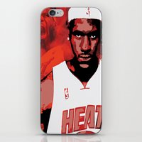 lebron iPhone & iPod Skins featuring Lebron James: #4 Hall of Fame Series by Sifa Blackmon