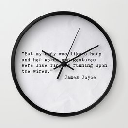 James Joyce Love Quote Wall Clock