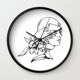 Don´t´let your girlfriend cut your hair Wall Clock