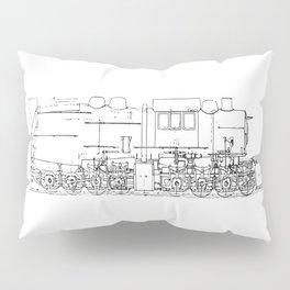 Sketchy train art Pillow Sham