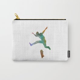Man skateboard 02 in watercolor Carry-All Pouch