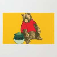 pooh Area & Throw Rugs featuring Pooh! by Pieterjan Arends