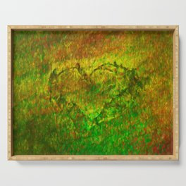 The Heart - Painting by Brian Vegas Serving Tray