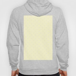 Pink Lace on Cream Yellow Snowflakes Hoody
