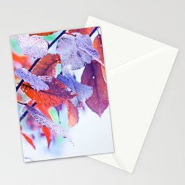 Raindrops on Autumn Leavs Stationery Cards