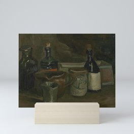 Still Life with Bottles and Earthenware Mini Art Print