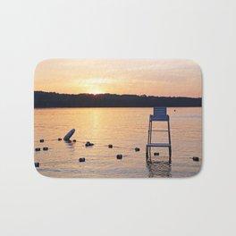 Summer Sunset Over Lake Bath Mat